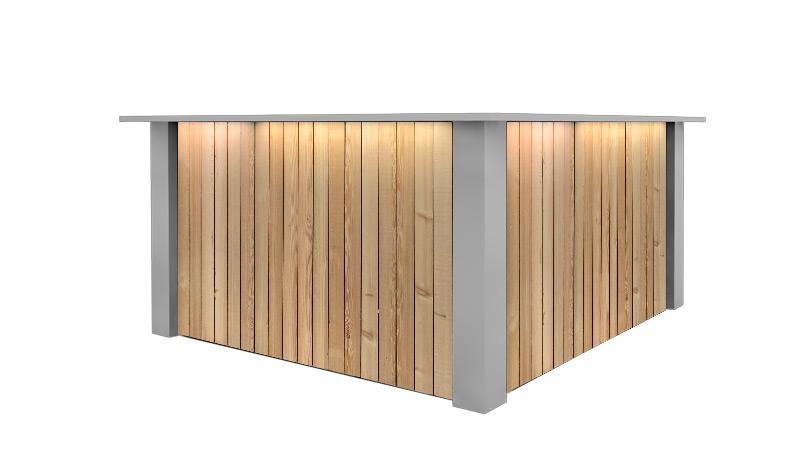 Witte Hoek Bar Huren: FlexxBar Lumber