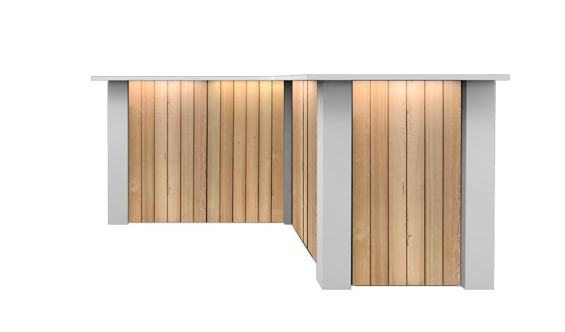 Witte Inverse Bar Huren: FlexxBar Lumber