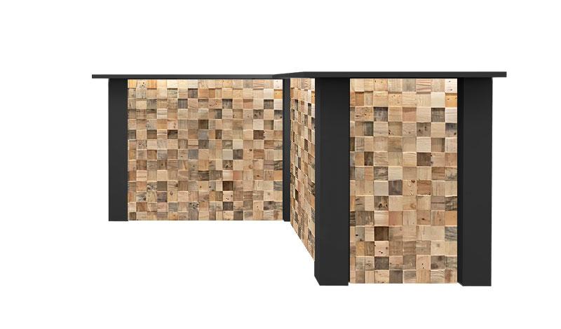Zwarte Inverse Bar Huren: FlexxBar Cube
