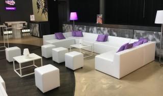 Witte Lounge Set Huren: Plaza